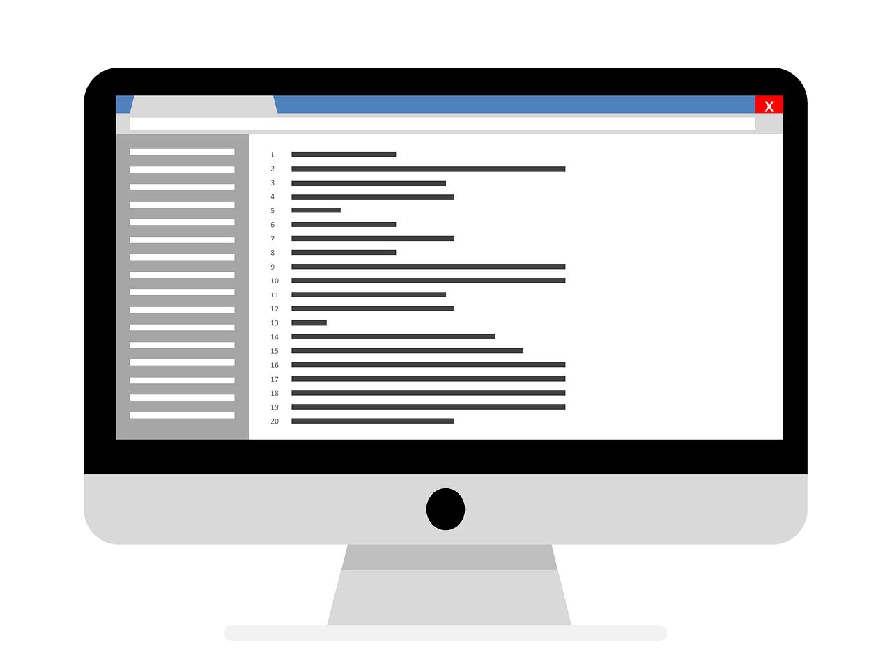 コード画面のイラスト